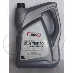 Масло трансмиссионное 75w90 GL4 Gear OIL Semisynthetic JASOL, 5л